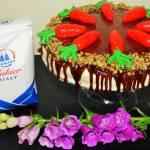 Ciasto marchewkowe z mascarpone i lustrzaną polewą
