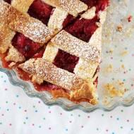 Ciasto kruche - najprostsza tarta jabłkowa z malinami