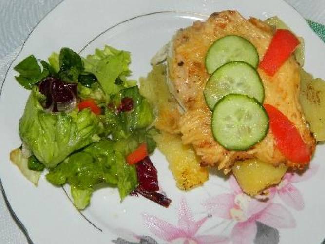 Zapiekanka ziemniaczana z kurczakiem