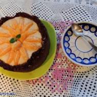Tarta z kremem imbirowo - mandarynkowym