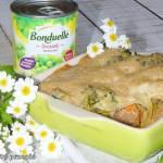 Cannelloni mięsne z brokułem i groszkiem