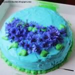 Chabrowy tort ananasowo - porzeczkowy