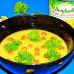 Zupa krem z kukurydzy z orzeszkami z ciecierzycy