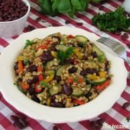 Pęczak z warzywami i fasolą