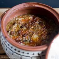 pieczona zupa z młodej kapusty