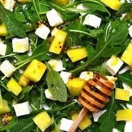 Sałatka na rukoli, z arbuzem i serem feta