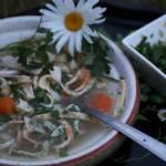 Zupa z kurczakiem i kluseczkami z pietruszką