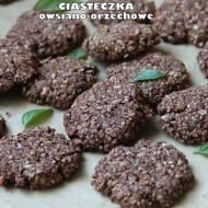 Ciasteczka owsiano-orzechowe (bez mąki, jajek, cukru)