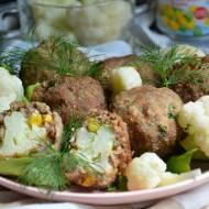Kalafior w mięsnej skorupce z kukurydzą i groszkiem Bonduelle