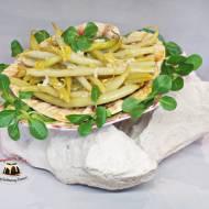 Fasolka szparagowa z czosnkowo cytrynową nutą