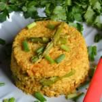 Smażony ryż curry ze szparagami