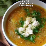 Zupa warzywna z kalarepą