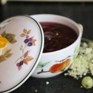 Dżem truskawkowo – agrestowy z kwiatem czarnego bzu