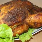 Chrupiący pieczony kurczak w całości