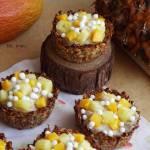 Tropikalne babeczki owsiane z kokosowym kawiorem (bez cukru)