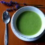 Zupa z zielonego groszku z czosnkiem (dietetyczna)
