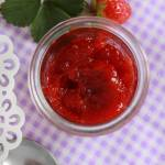 Dżem truskawkowy słodzony erytrytolem i stewią (bez cukru)