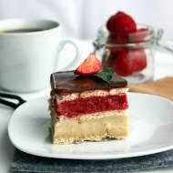 Ciasto truskawkowo – chałwowe Bez Pieczenia