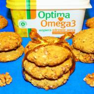 Owsiane ciasteczka z orzechami i omega 3
