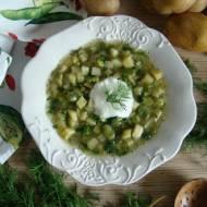 Zupa z młodymi ziemniakami, bobem  i koperkiem