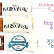 Batony: truskawka i wanilia/ figa i goji z miodem gryczanym/ sport - Baton Warszawski
