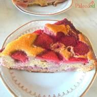 Ciasto z truskawkami i rabarbarem (bez glutenu, bez nabiału)