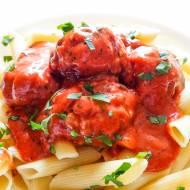 Klopsiki szwedzkie w sosie pomidorowym