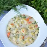 Zupa koperkowa z tortellini