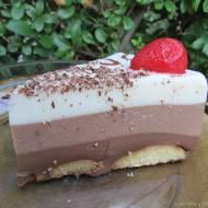 Ciasto potrójnie czekoladowe-bez pieczenia