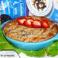Pudding makaronowy zapiekany z cynamonem i truskawkami