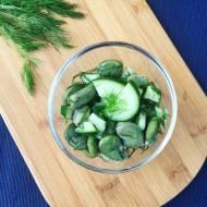 Zielona sałatka z bobem i ogórkiem