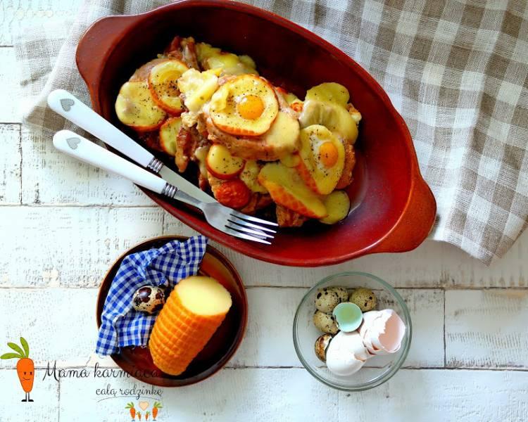 Schab zapiekany z serem i jajkami