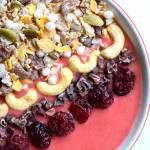 Truskawkowe smoothie bowl :)