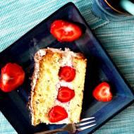 Ciasto stracciatella z truskawkami