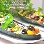 ,,Cukinia faszerowana pomidorkami koktajlowymi i oliwkami''