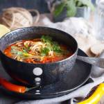Ekspresowa tajska zupa z mięsem i makaronem / Easy Thai noodle and ground meat soup