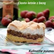 Ciasto letnie z bezą