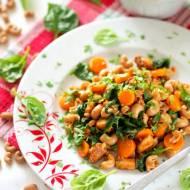 Makaron razowy  z patelni, z kurczakiem i warzywami