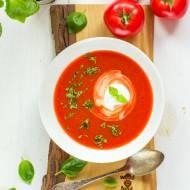 Zupa krem z pieczonych pomidorów malinowych