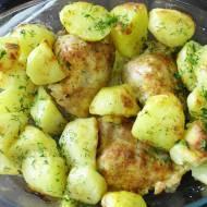Udka Z Ziemniakami Z Piekarnika - Czyli obiad który robi się sam ;)
