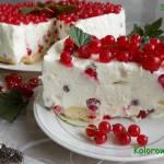1 urodziny bloga i sernik na zimno z porzeczkami