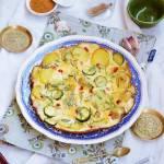 Omlet z cukinią i ziemniakami