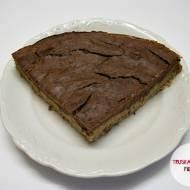 Tarta jaglana z brownie z fasoli