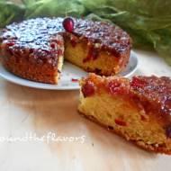 Ciasto z czereśniami do góry nogami