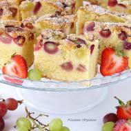 Ciasto dokładnie ważone z winogronami