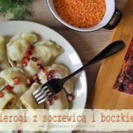 Pierogi z soczewicą i boczkiem - kuchnia podkarpacka