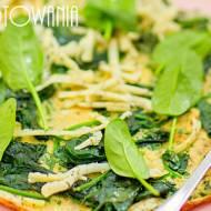 Omlet śniadaniowy zielony ze szpinakiem