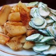 Ziemniaki pieczone i mizeria