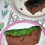 Fasolowe brownie z porzeczkami i galaretką