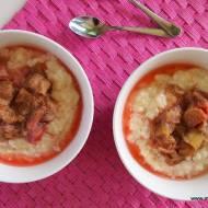 Pudding ryżowy z rabarbarem (bez cukru i glutenu)